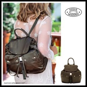 STEVE MADDEN LUXE SATIN MINI BACKPACK BAG